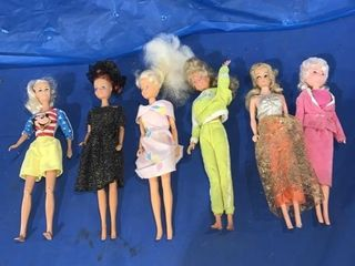 Six no name Barbie lookalikes