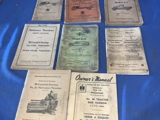 Quantity of vintage international owners manuals