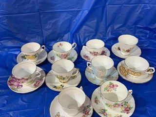 10 cup and saucer sets