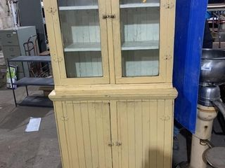"Vintage cupboard overall height is 74"" x"