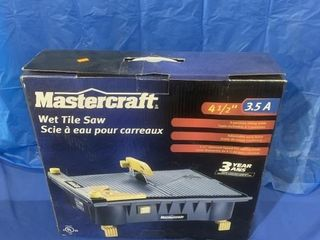 Mastercraft wet tile saw never used