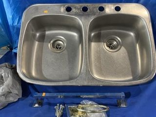 Used double stainless steel kitchen sink