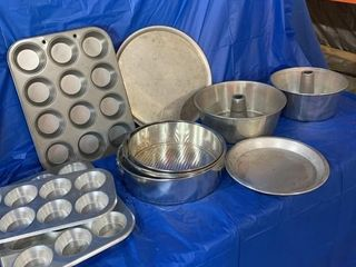 Muffin tins, cookie sheets, cake pans etc.