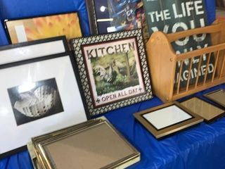 Picture frames,pictures, plaques, and magazine