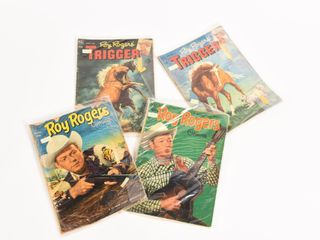 LOT OF 4 1952 DELL ROY ROGERS & TRIGGER COMICS