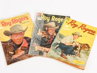 LOT OF 3- 2 1953 DELL ROY ROGERS COMICS+