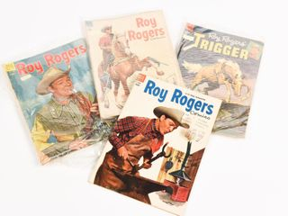 GROUPING OF 4 DELL 1954 ROY ROGERS COMICS