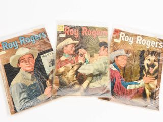 LOT OF 3 DELL ROY ROGERS 10 CENT COMICS