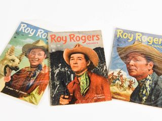 LOT OF 3 DELL ROY ROGERS 1950'S 10 CENT COMICS
