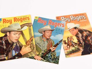 LOT OF 3 DELL ROY ROGERS 1950'S 10 CENT COMICS