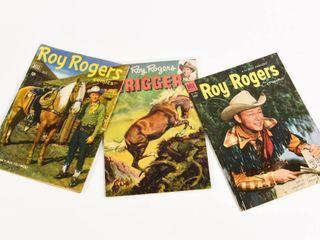 LOT OF 3 DELL ROY ROGERS/ TRIGGER 1950'S COMICS