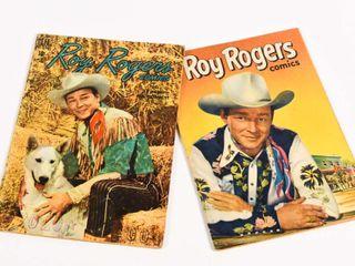 LOT OF 2 DELL ROY ROGERS 1950 & 52 10 CENT COMICS