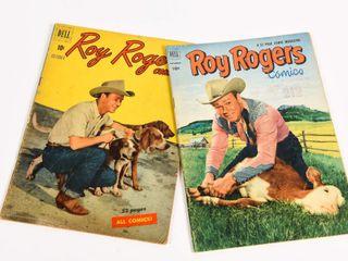 LOT OF 2 DELL ROY ROGERS 10 CENT COMICS