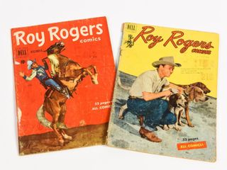 LOT OF 2 DELL ROY ROGERS 10 CENT COMICS