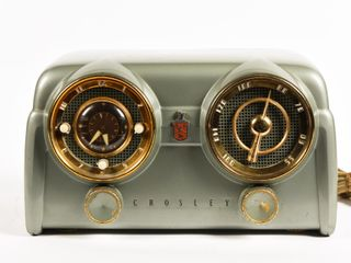 1950'S CROSLEY CLOCK & RADIO MODEL D-25