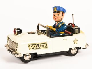 POLICE BATTERY OPERATED NO. 3 CAR./ OFFICER