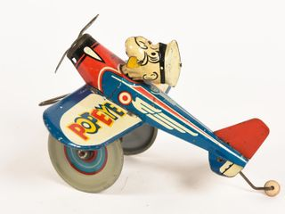 POPEYE THE PILOT KEY WIND EMBOSSED TOY