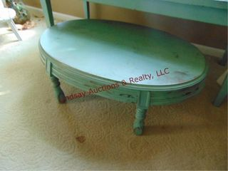 Small green oval table 32x20x11 5