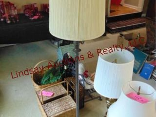 Approx 5ft tall floor lamp w  shade