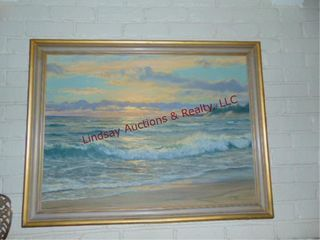large ocean view oil painting by Vickery