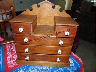 Small 5 drawer wood jewelry box