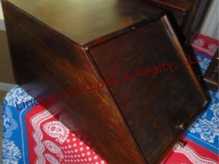 Wood mail holder