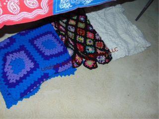 3 crochet blankets