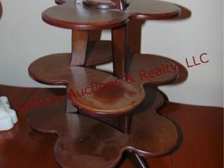 Wood 3 tier table top shelf
