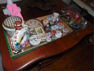 1 flat of glass decorative jewelry boxes