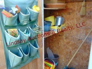 CONTENTS of garden closet  SEE PICS