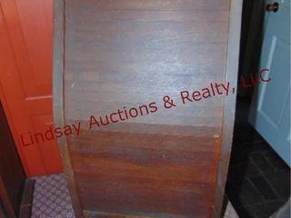 Vintage National Ticket Case Co  wood lock box