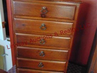 6 drawer wood jewelry box