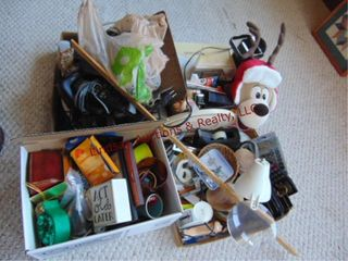 Group of misc office items  phones  stapler