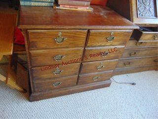 Wood 4 drawer cabinet 35x21x30