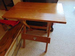 Wood folding table 24x16x24