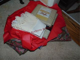 Group of plastic table cloths   other