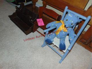 5 pcs  2 wood shelves  wood doll chair