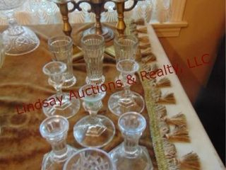 12 pcs glass   brass candlestick holders   other