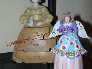 3pcs decor  angel  woman in dress  box