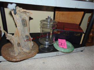 4 pcs  tree house decor pc  bowl  vintage case