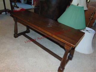 Wood bench 40x13x17 5