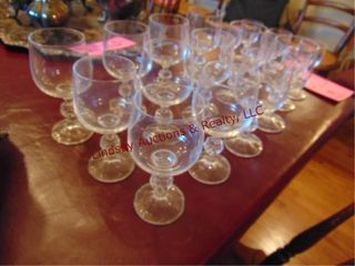 18 pcs of glass wine brandy glasses