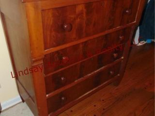 4 drawer wood dresser 43x21x45