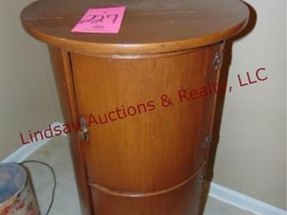 Wood 2 compartment round cabinet 20x36