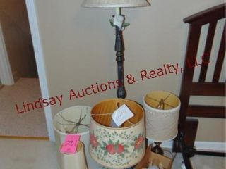 4 various size lamps   extra shades