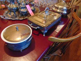 3pcs  Towle elec pot w  lid   pyrex bowl insert