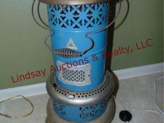 Vintage heater style floor lamp SEE PICS  works