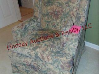 Cloth floral chair