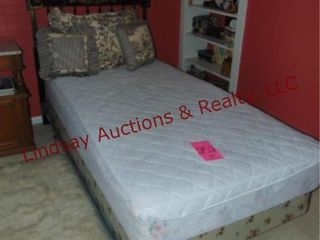 Twin size bed frame  mattress  box springs