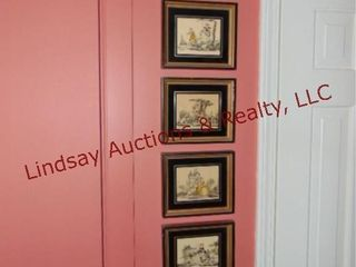 6 small framed pictures
